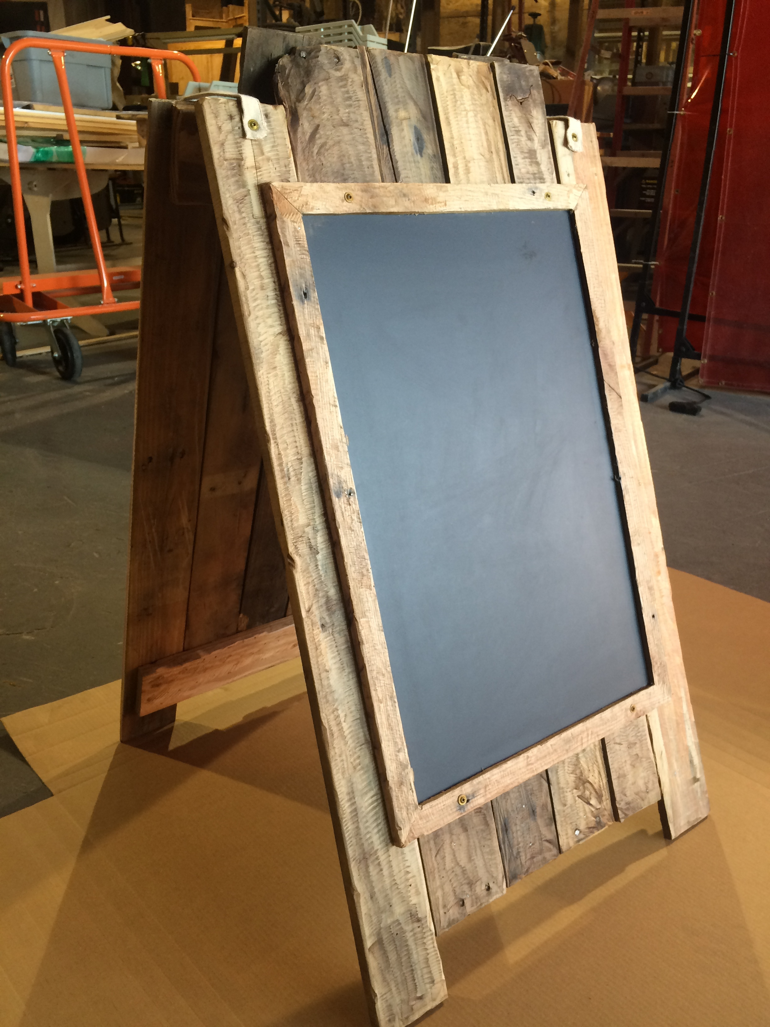 Double-sided chalkboard A-frame