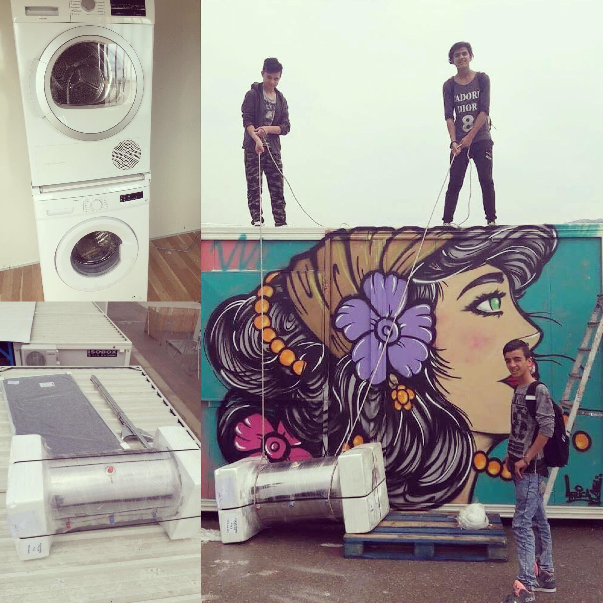dryer. and solar water heater- Skaramangas camp womens center.JPG