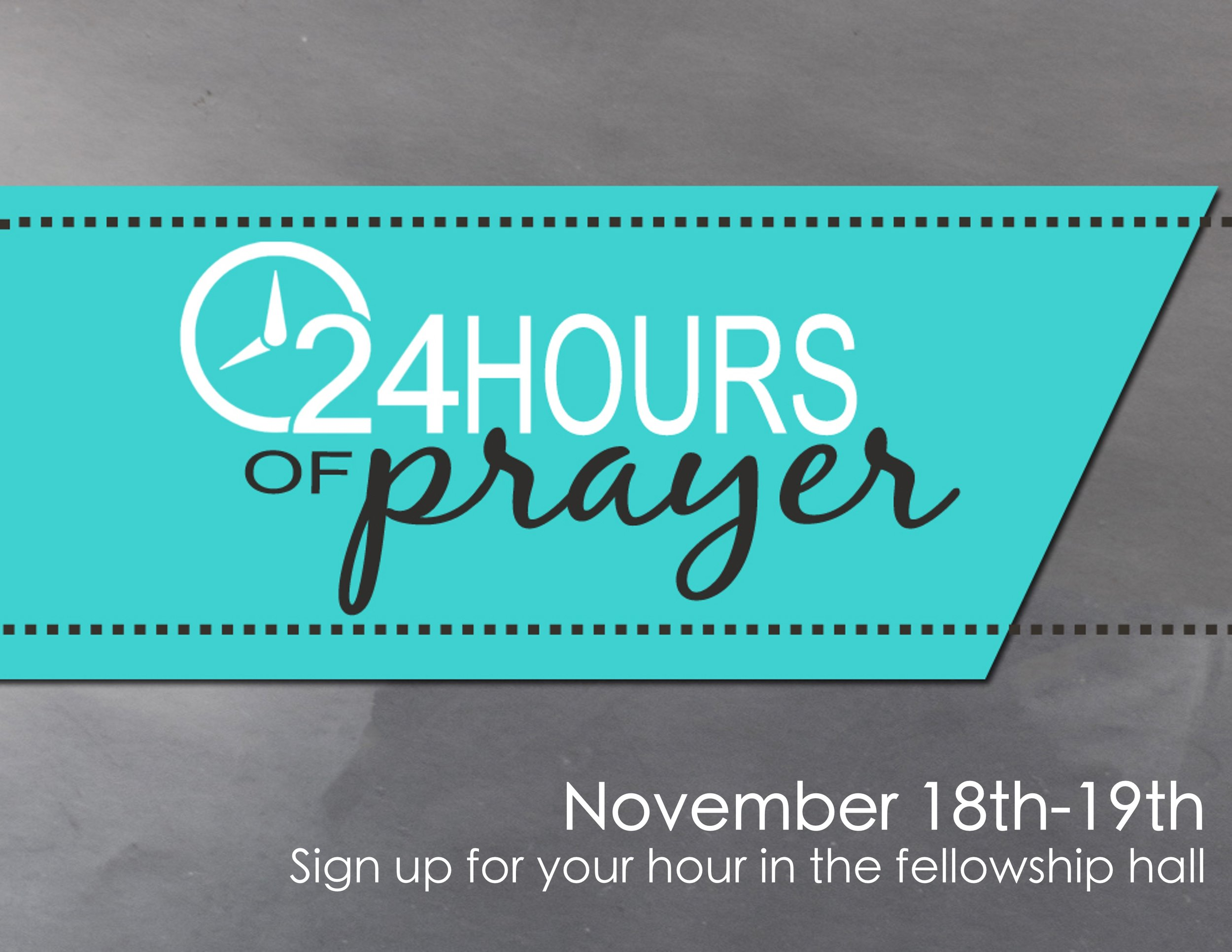 Be a part of a prayer chain that lasts for 24 hours. We will be focusing on healing, but you can also use that time to pray for whatever is on your heart. Sign up for your hour to pray in the fellowship hall. You can pray from wherever you are - work, home, school, your car - it's all about setting aside one hour for prayer, and doing it as a community. Please join us!