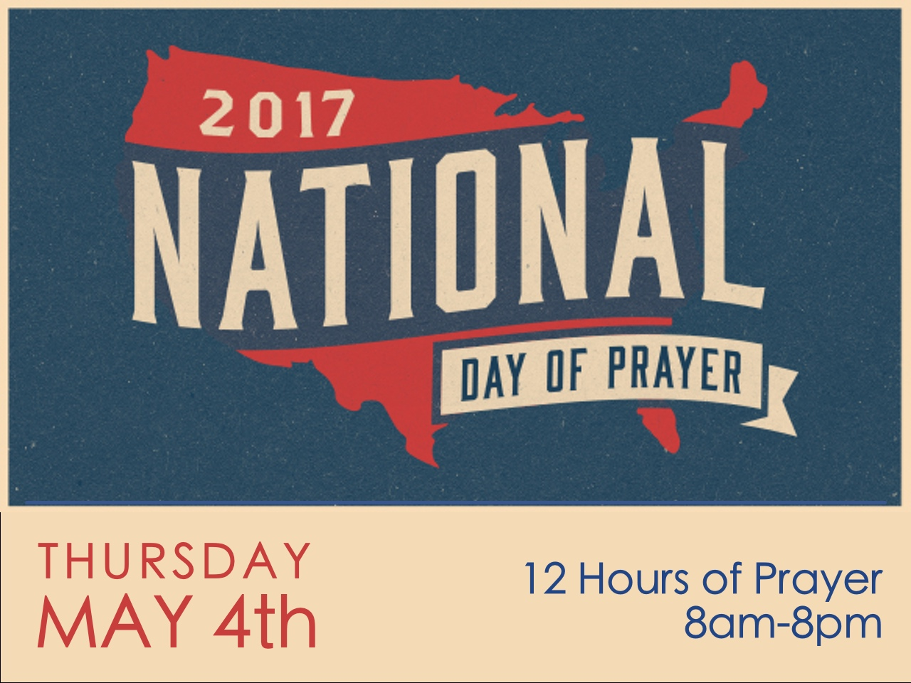 Like our Facebook page and join the National Day of Prayer Event!  Just pick one hour in the 12 hour period to pray over our Nation.  Click  here  to join!