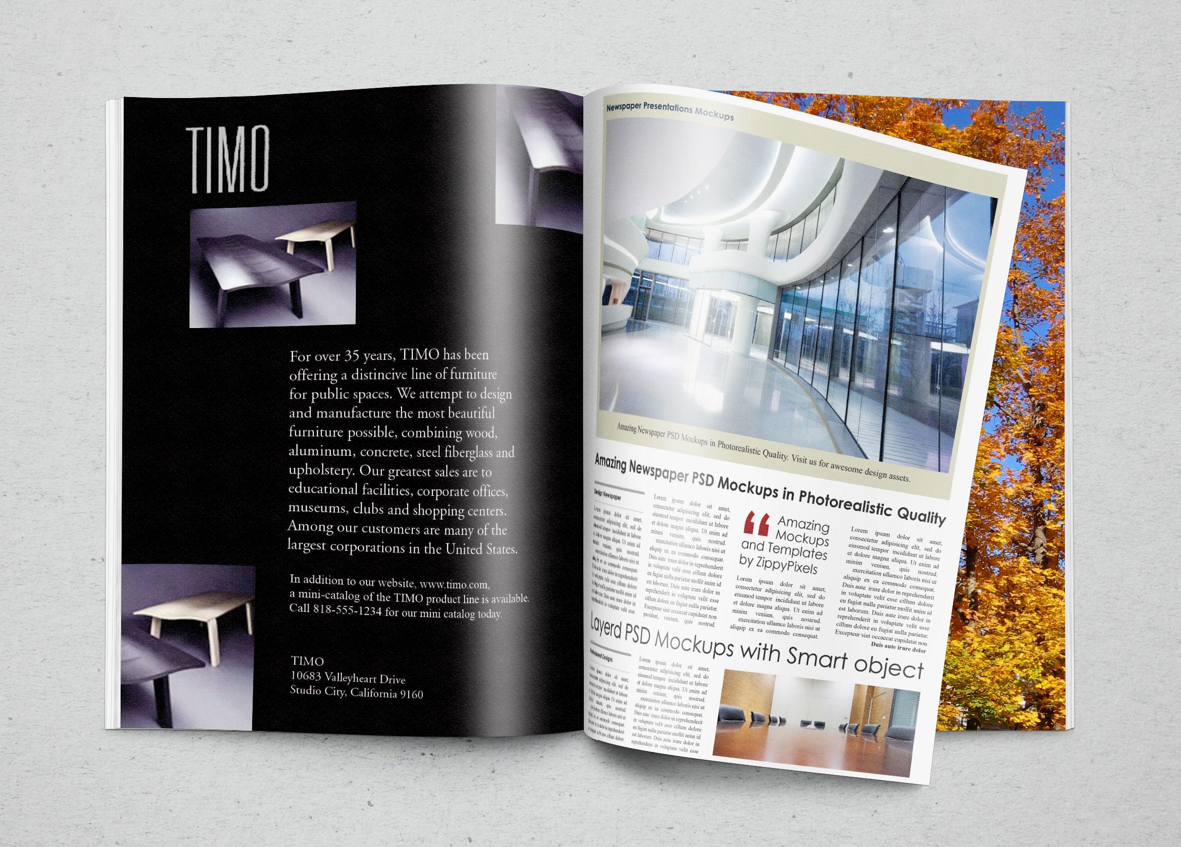Timo Furniture Ad