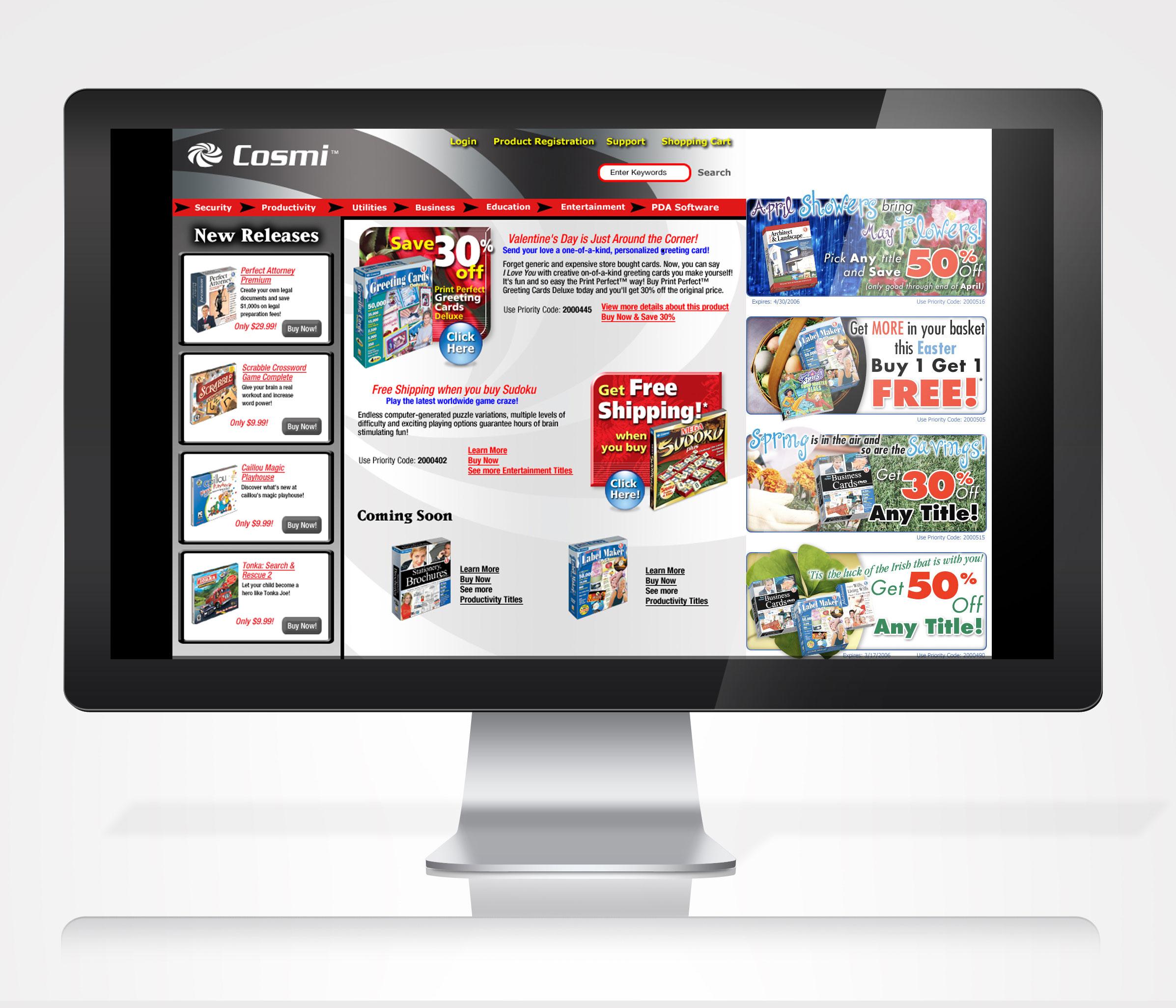 Cosmi Corporation Website Redesign