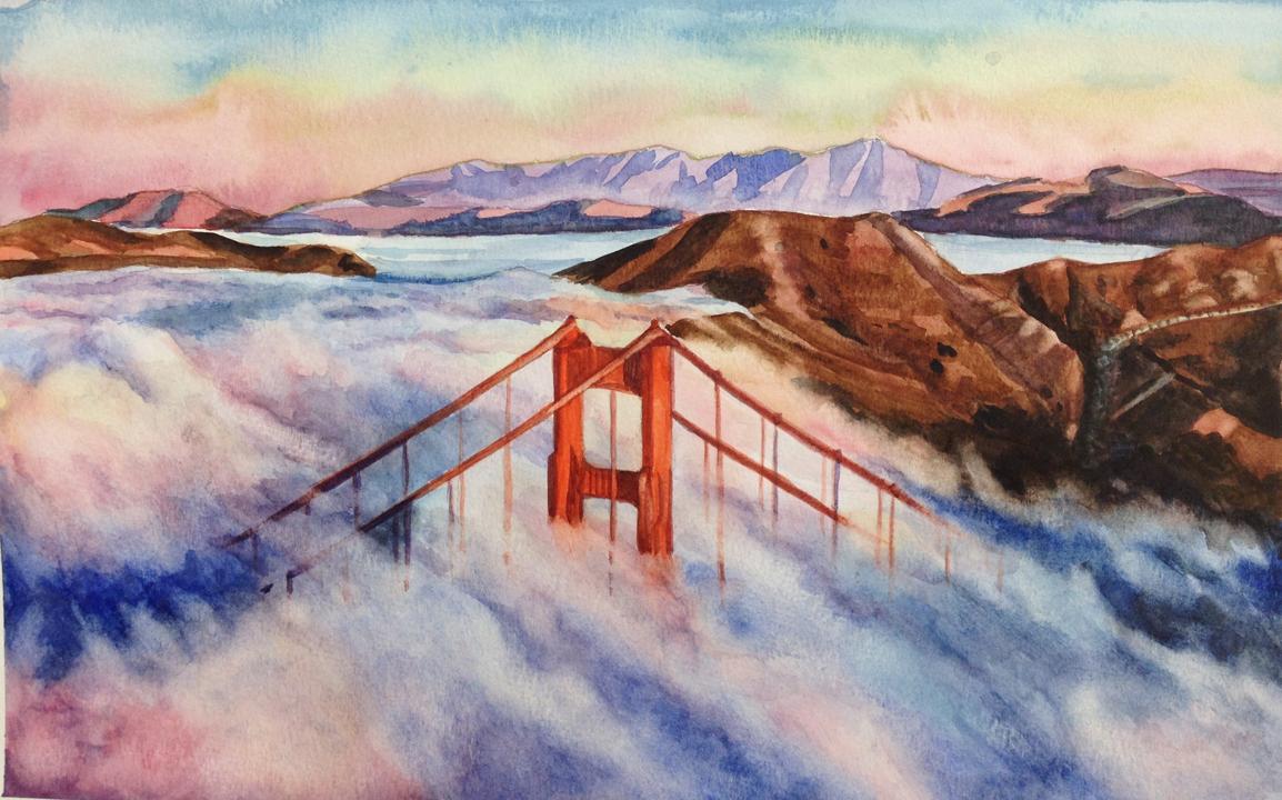 """Landscape, watercolor, 18"""" x 24"""""""