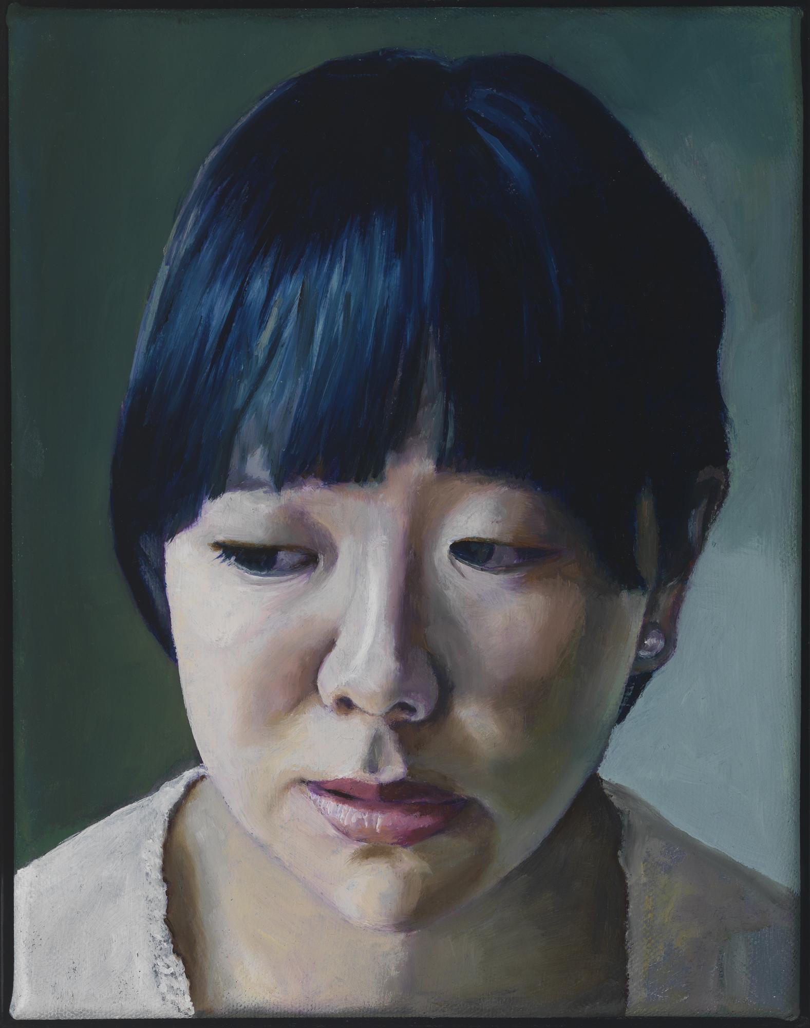 """Head, Oil on canvas, 12"""" x 9"""""""