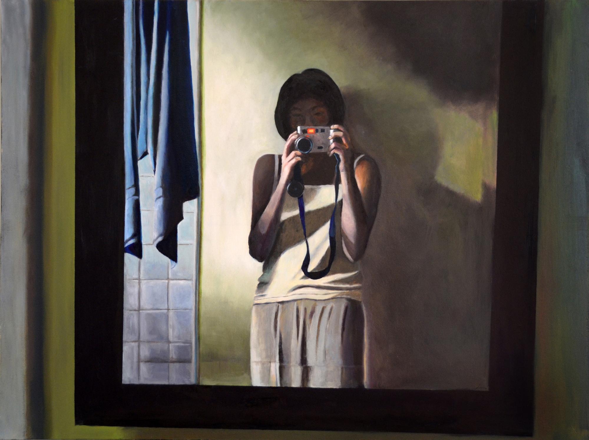 "Mirror, Oil on canvas, 36"" x 48"""
