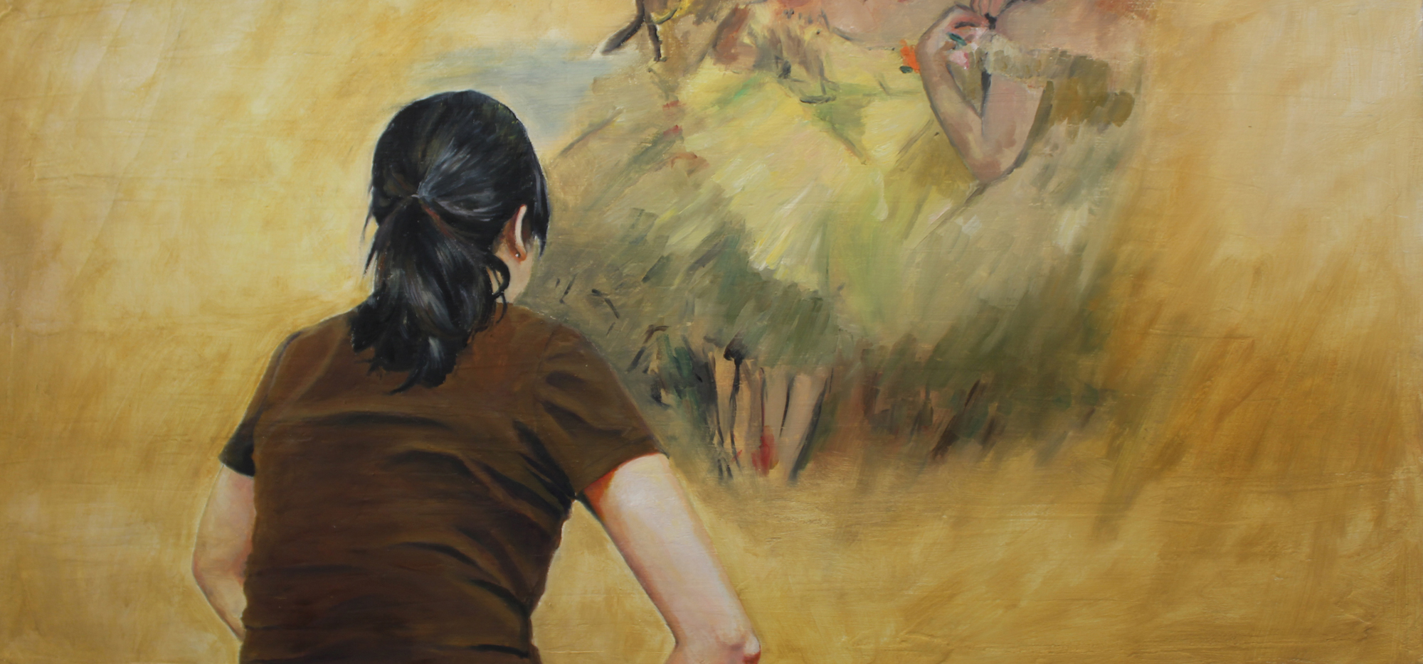 """After Degas, Oil on canvas, 20"""" x 42"""""""