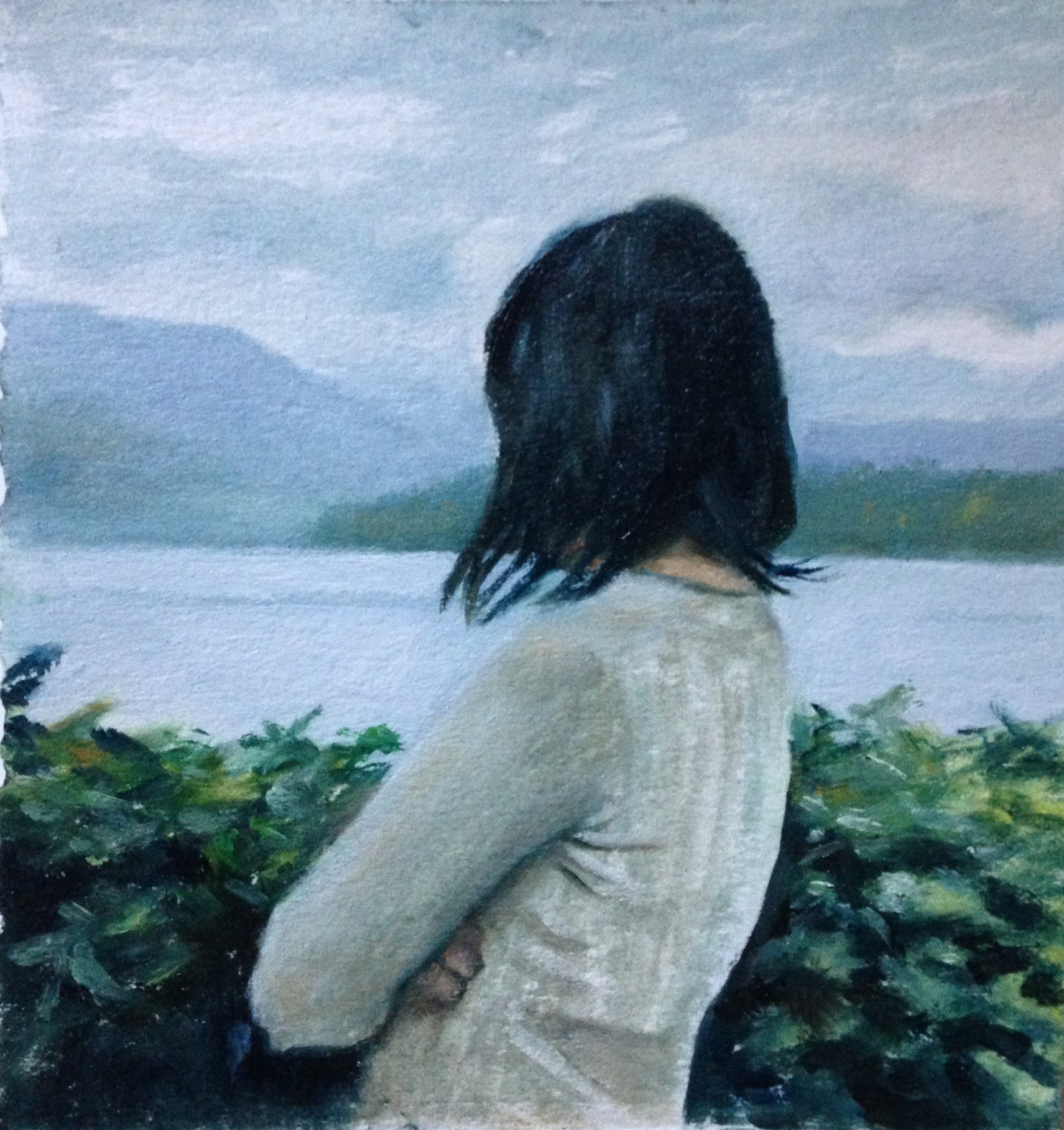 """Vancouver, Oil on paper, 5"""" x 5"""""""