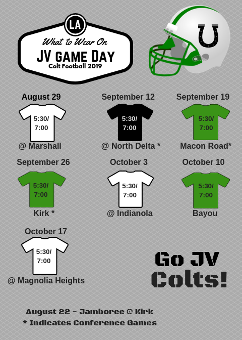 JV 2019 Colt Football - What to Wear.png
