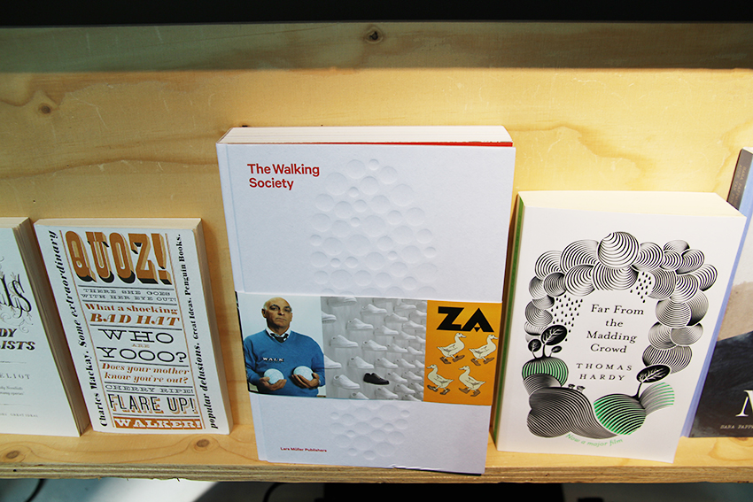 The Walking Society (2015) designed by Astrid Stavro / Atlas, displayed in the A+ exhibition at Central Saint Martins, 2016