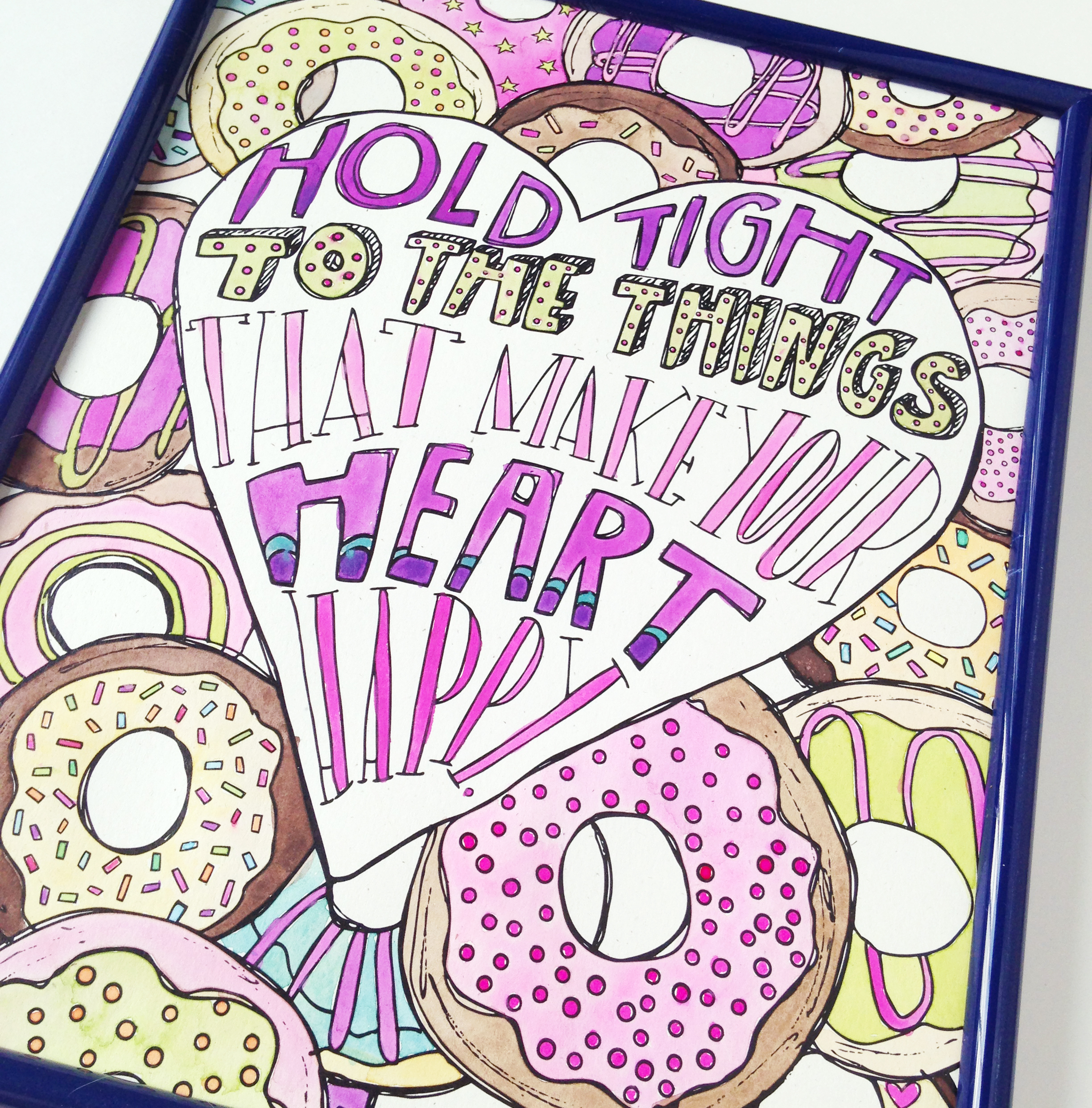 National Donut Day Illustration | Don't Worry, Eat Cake coloring book