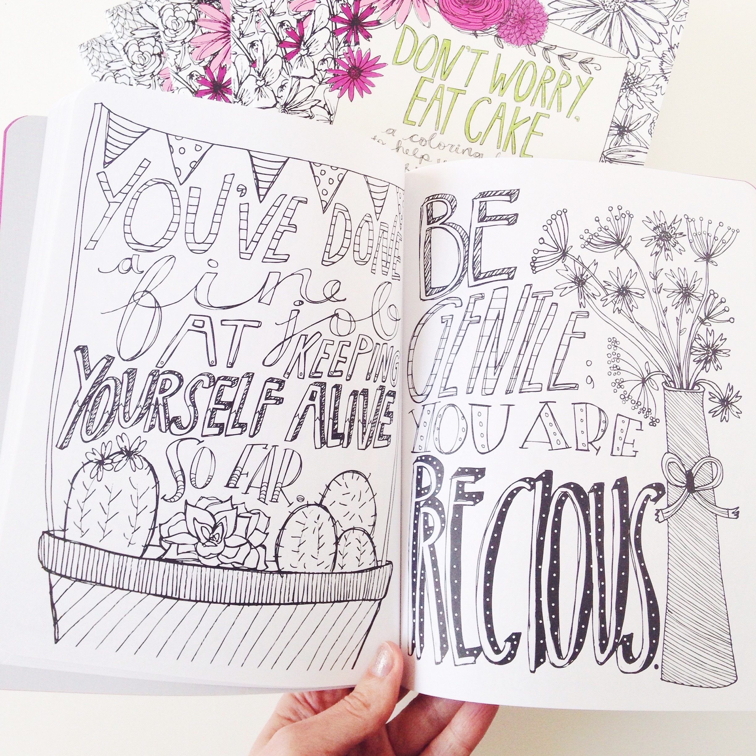 Don't Worry, Eat Cake coloring book