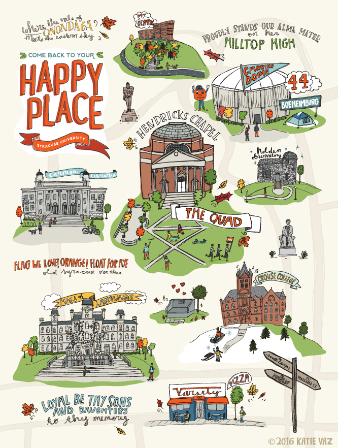 Happy Place Map | Katie Vaz