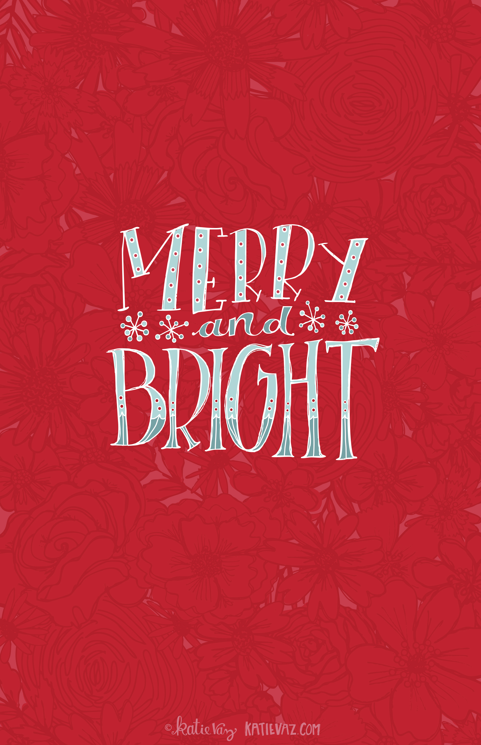 Merry and Bright mobile wallpaper
