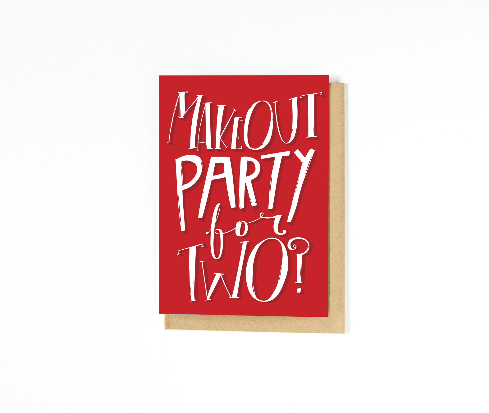 Funny Valentine's Day Greeting Card | Makeout Party