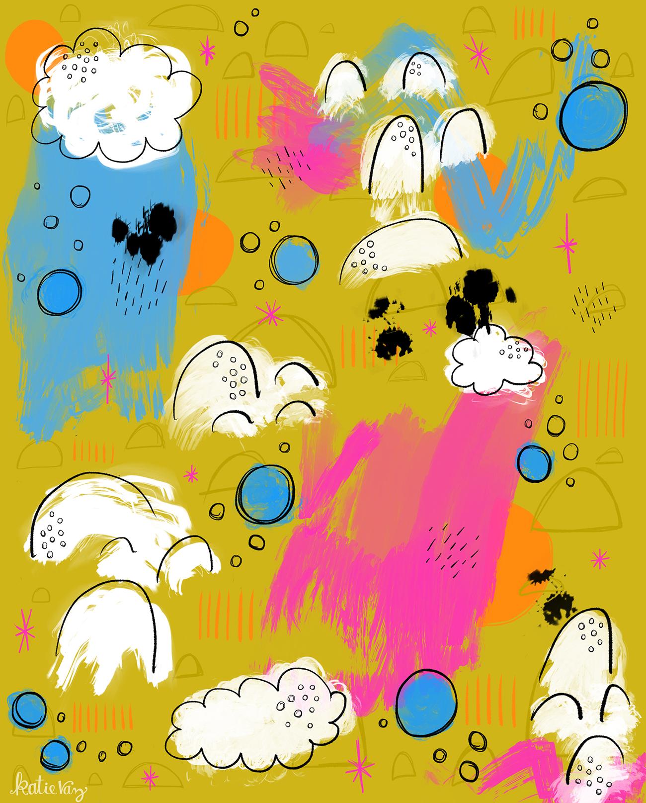 Abstract Pattern   Katie Vaz Illustration