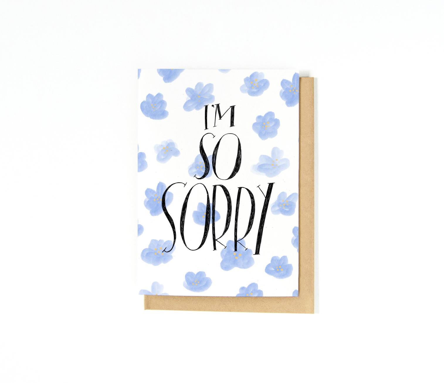 Sympathy Greeting Card | Hand-lettering | Typography | Illustration | Katie Vaz