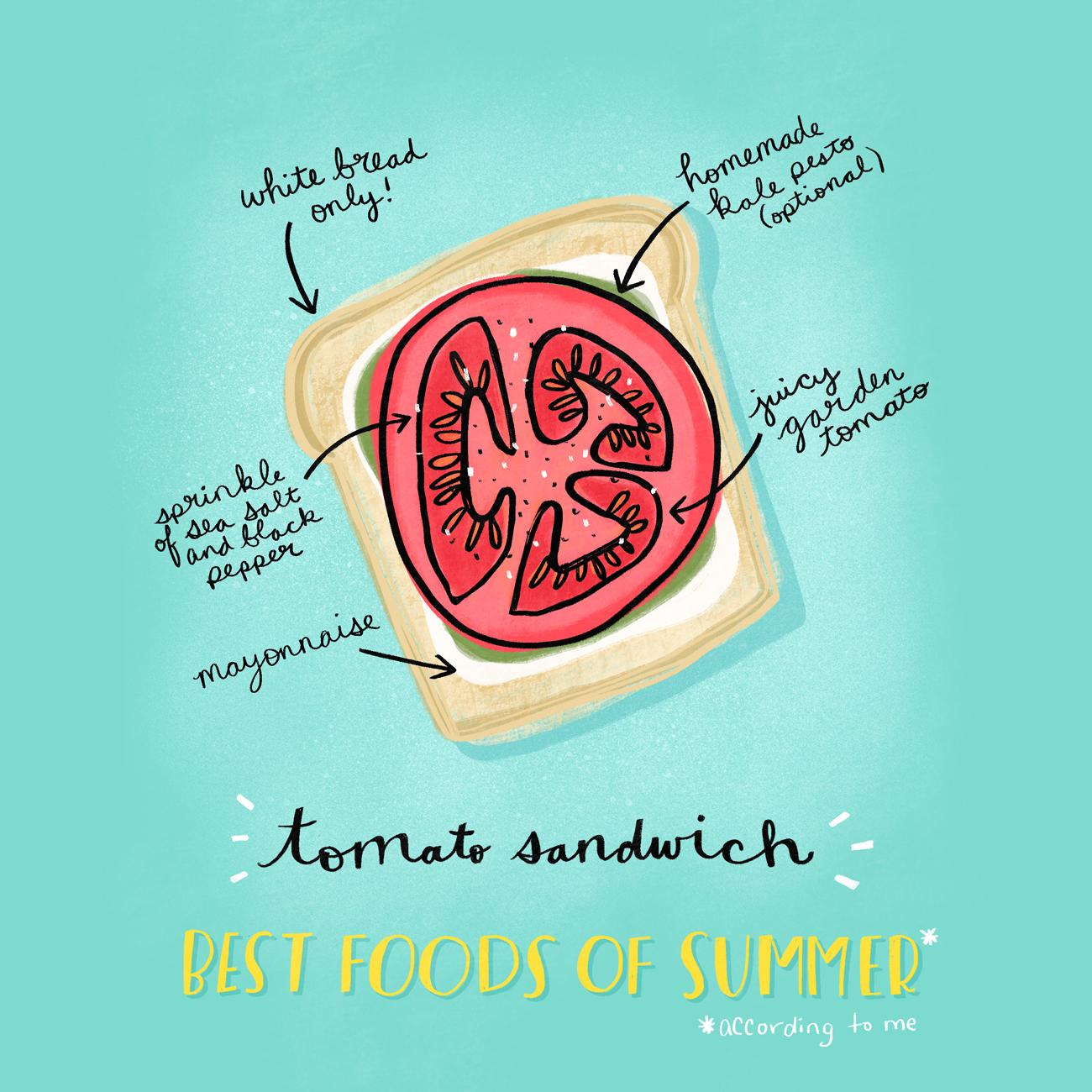 Tomato Sandwich Illustration | Katie Vaz