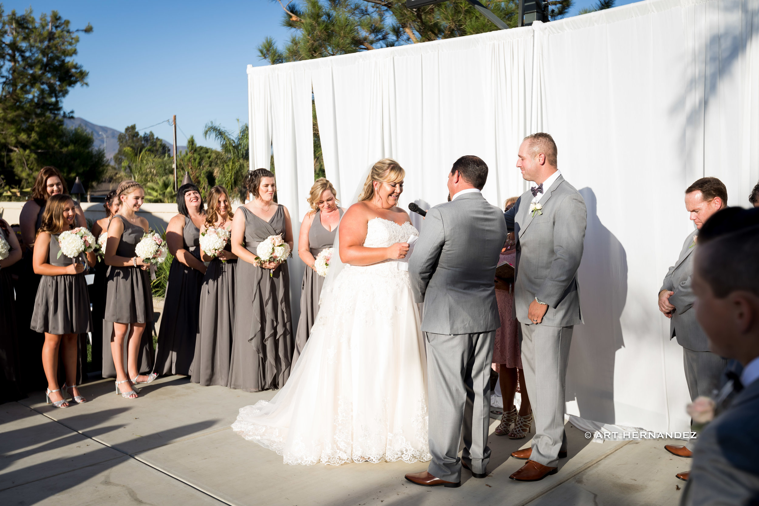 It's a beautiful wedding of Staci & Chris held at the residence of Ryan and Danielle Orr. This very special day was attended by their family and friends.  Venue: Rancho Cucamonga, CA