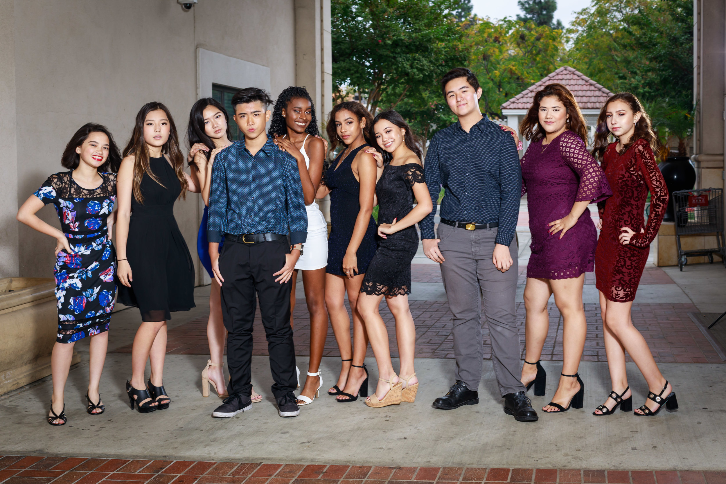 Photographing homecoming for these young teens of Chino Hills High School.