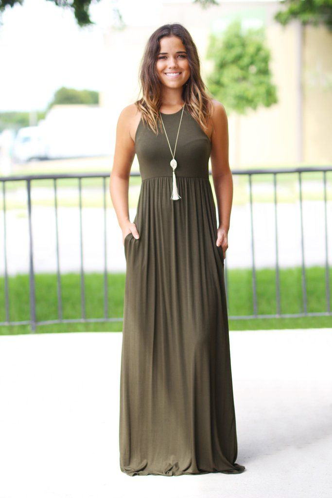Olive Maxi Dress with Pockets.jpg