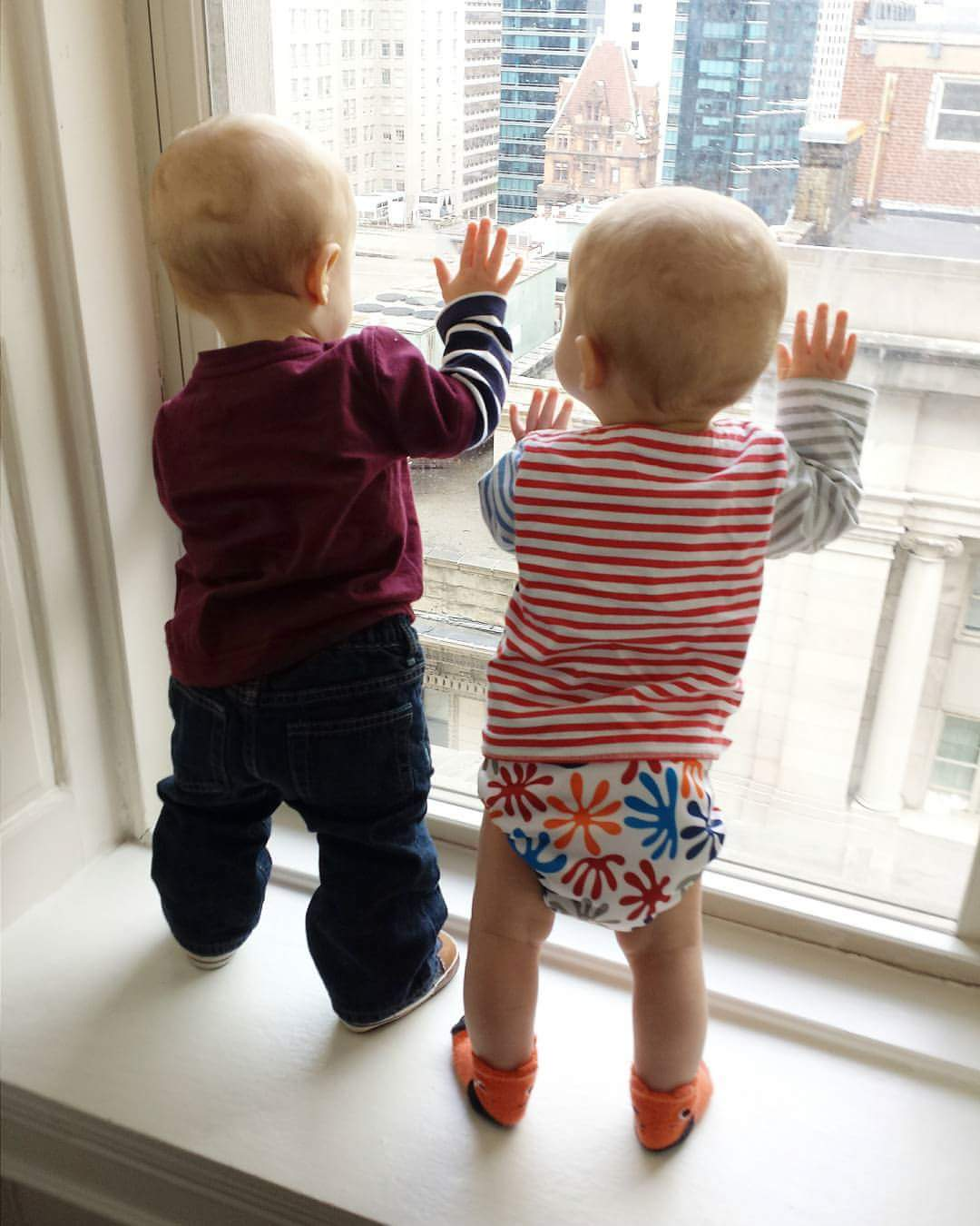 The boys looking out the window in philidelphia
