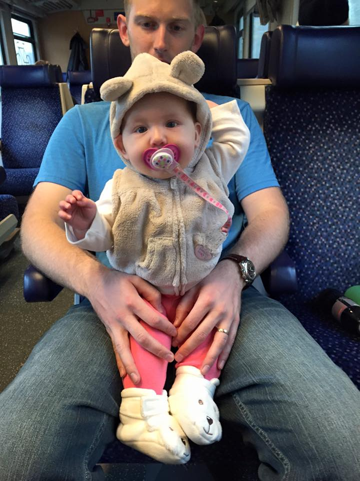 Enjoying the train