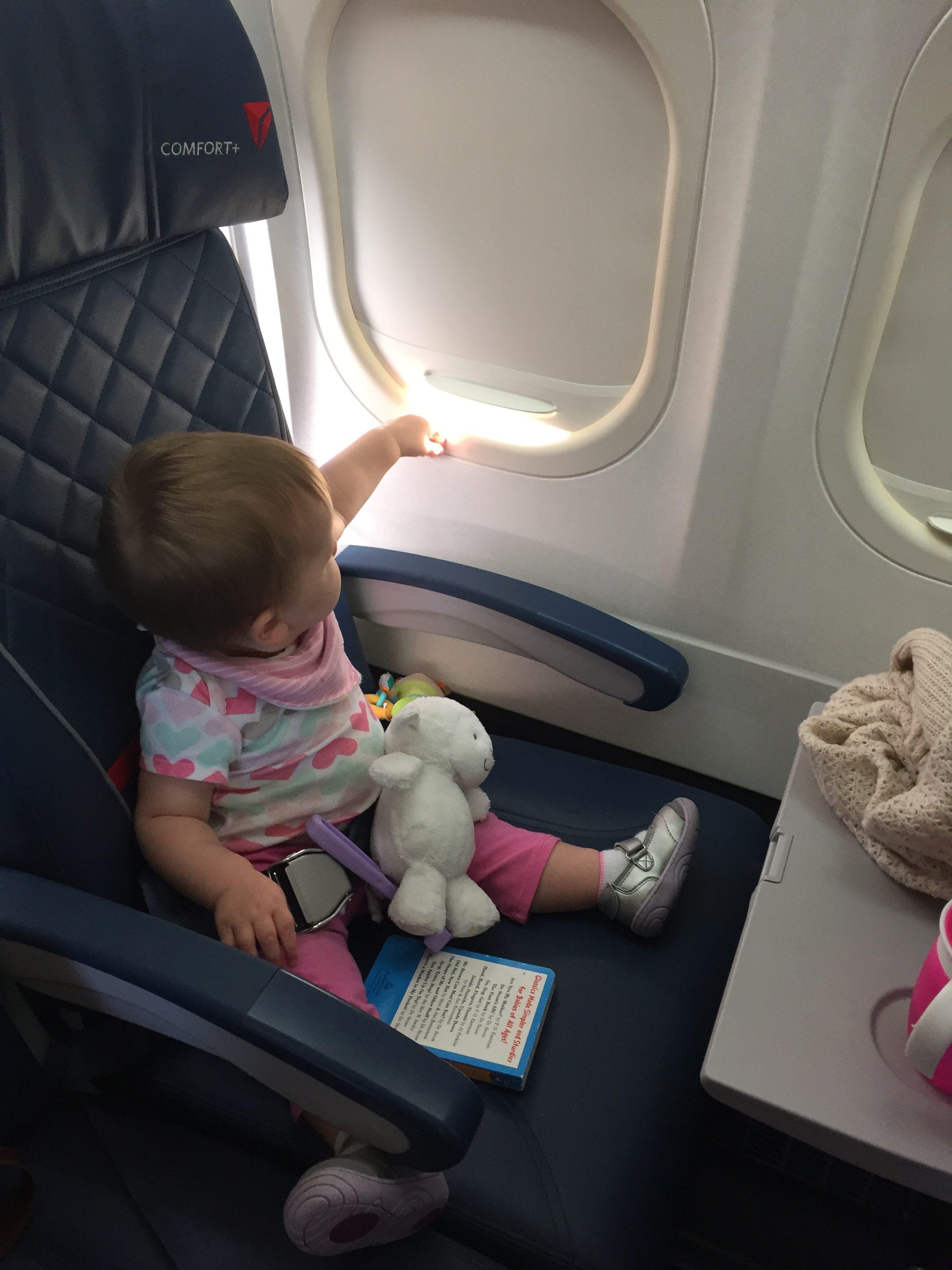 Flying from Florida to Atlanta and then Atlanta to Las Vegas -- just me & her