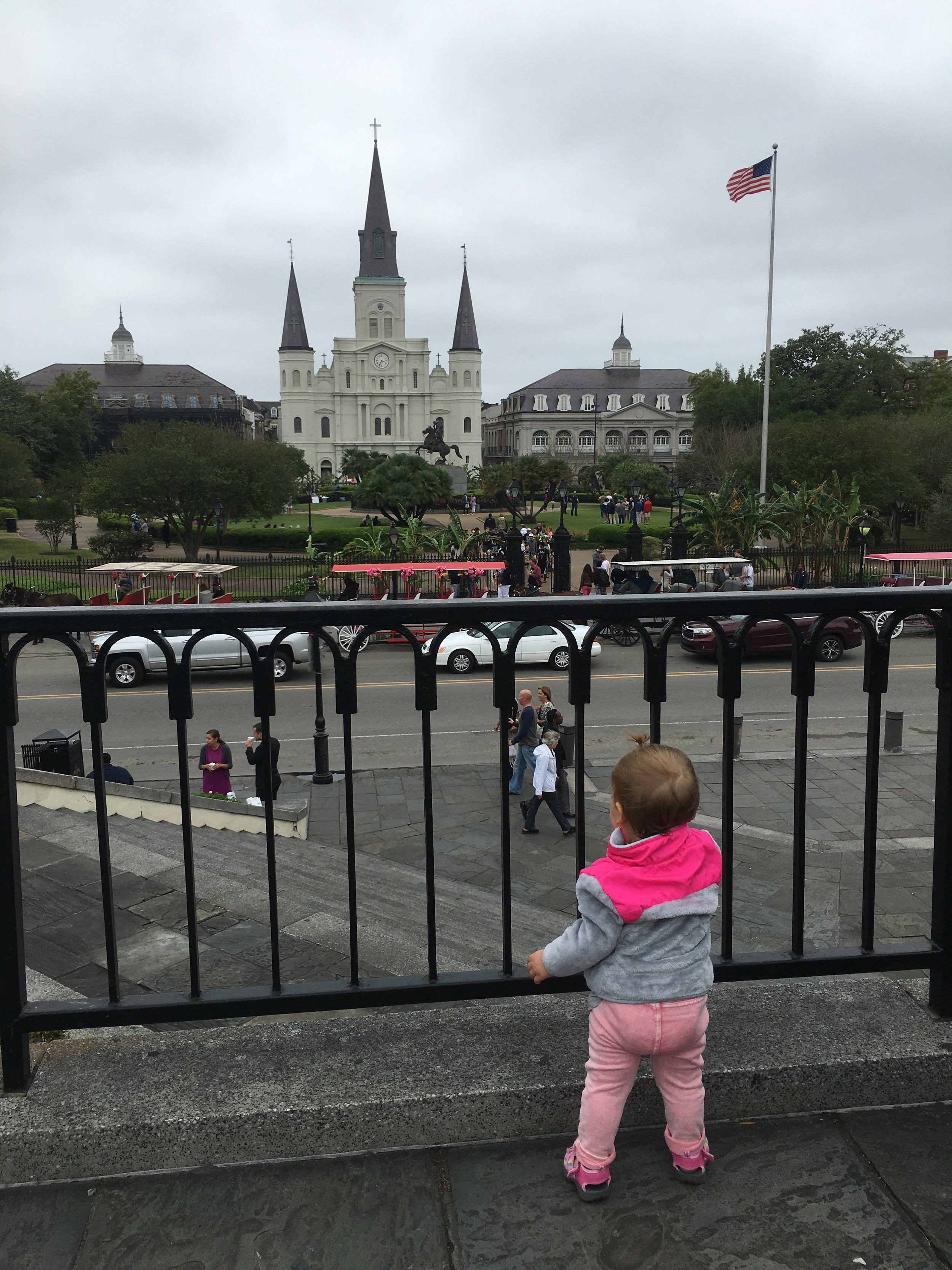 For her First Birthday we took her on a trip to New Orleans -- I was 12 weeks pregnant and still very sick