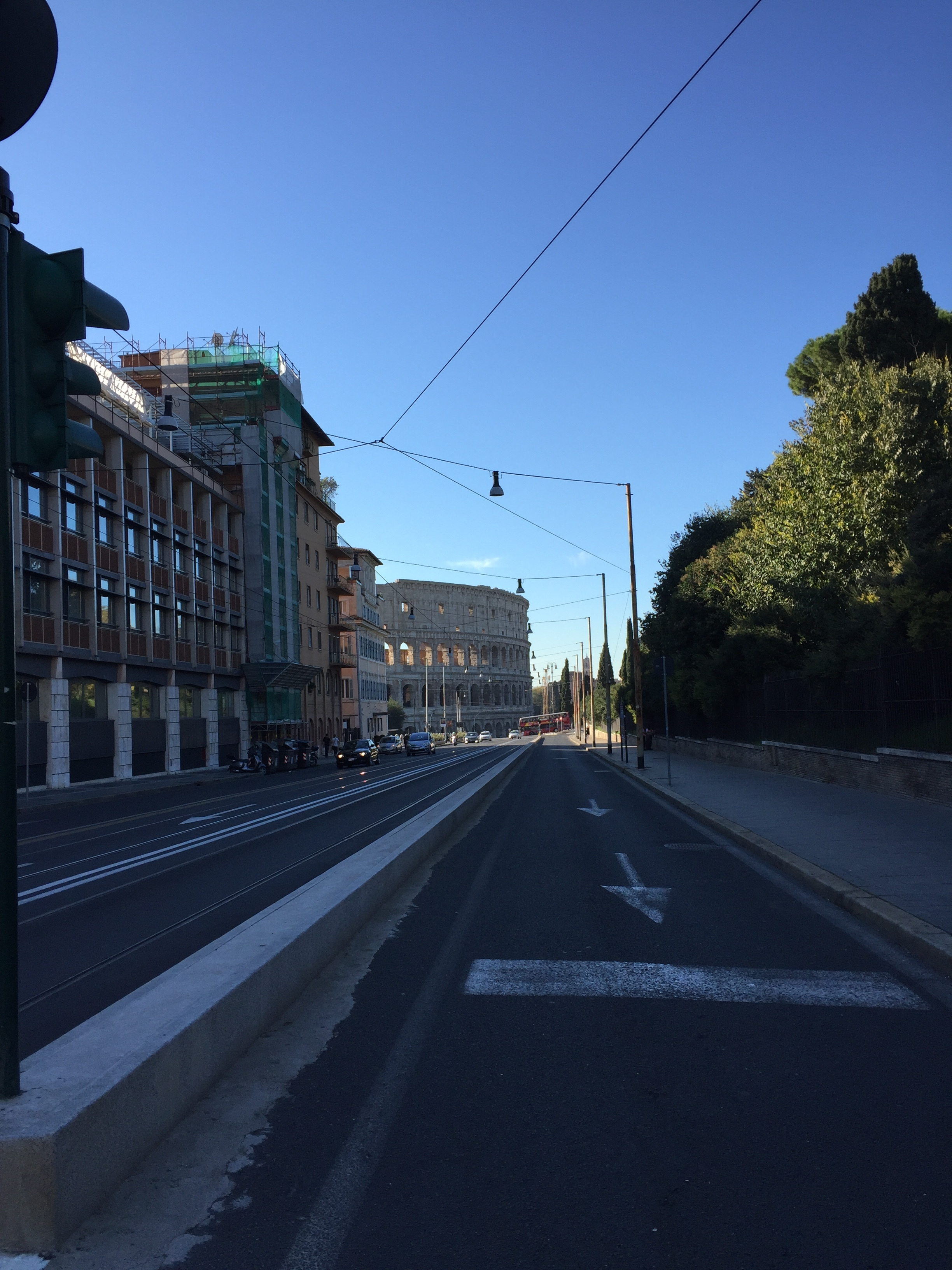 The coliseum in Rome was SO close to our Rome Airbnb -- it made catching public transportation very easy!