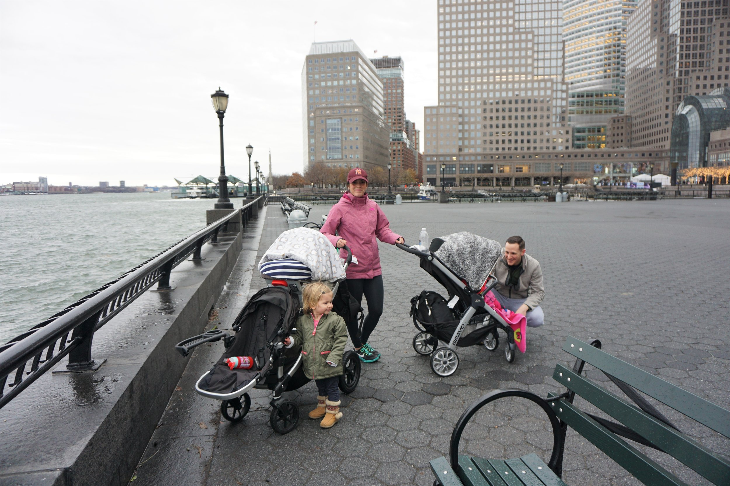 My Friend's managing the kids in Battery Park