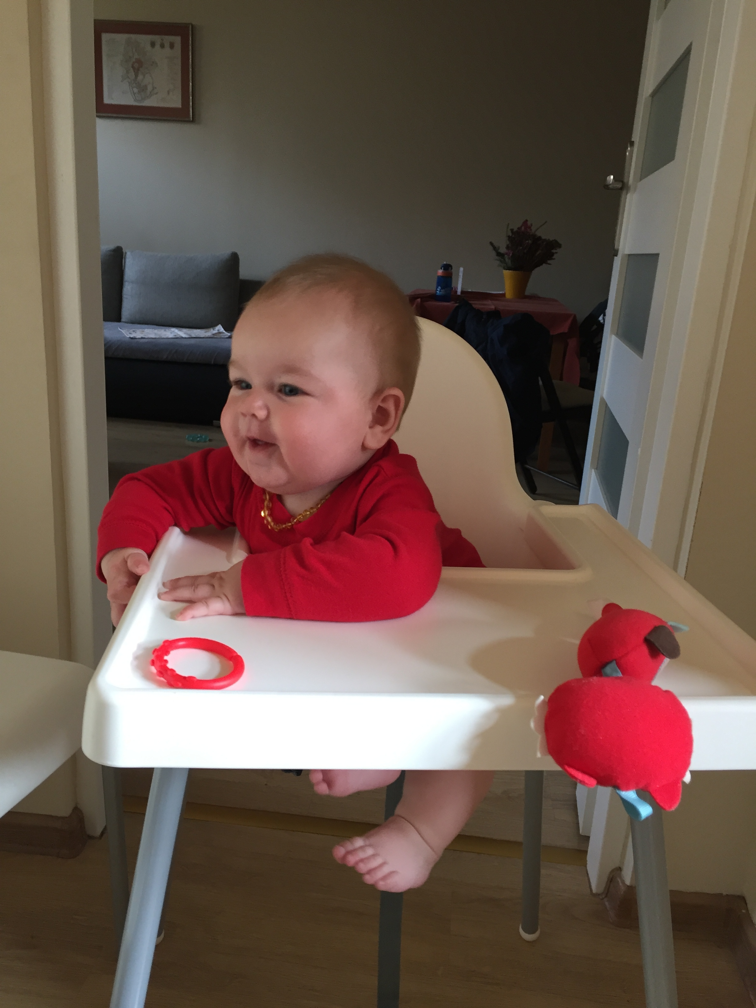 Latham in his cool highchair