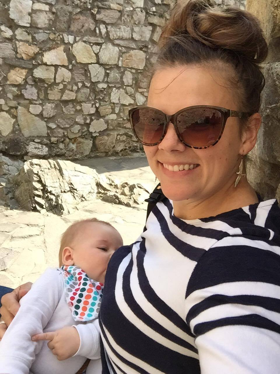 Latham was only 5 months when we went to Eastern Europe for 15 days. We brought thawed milk on the plane in a bottle as well as nursed. (Devin Castle, Slovakia)