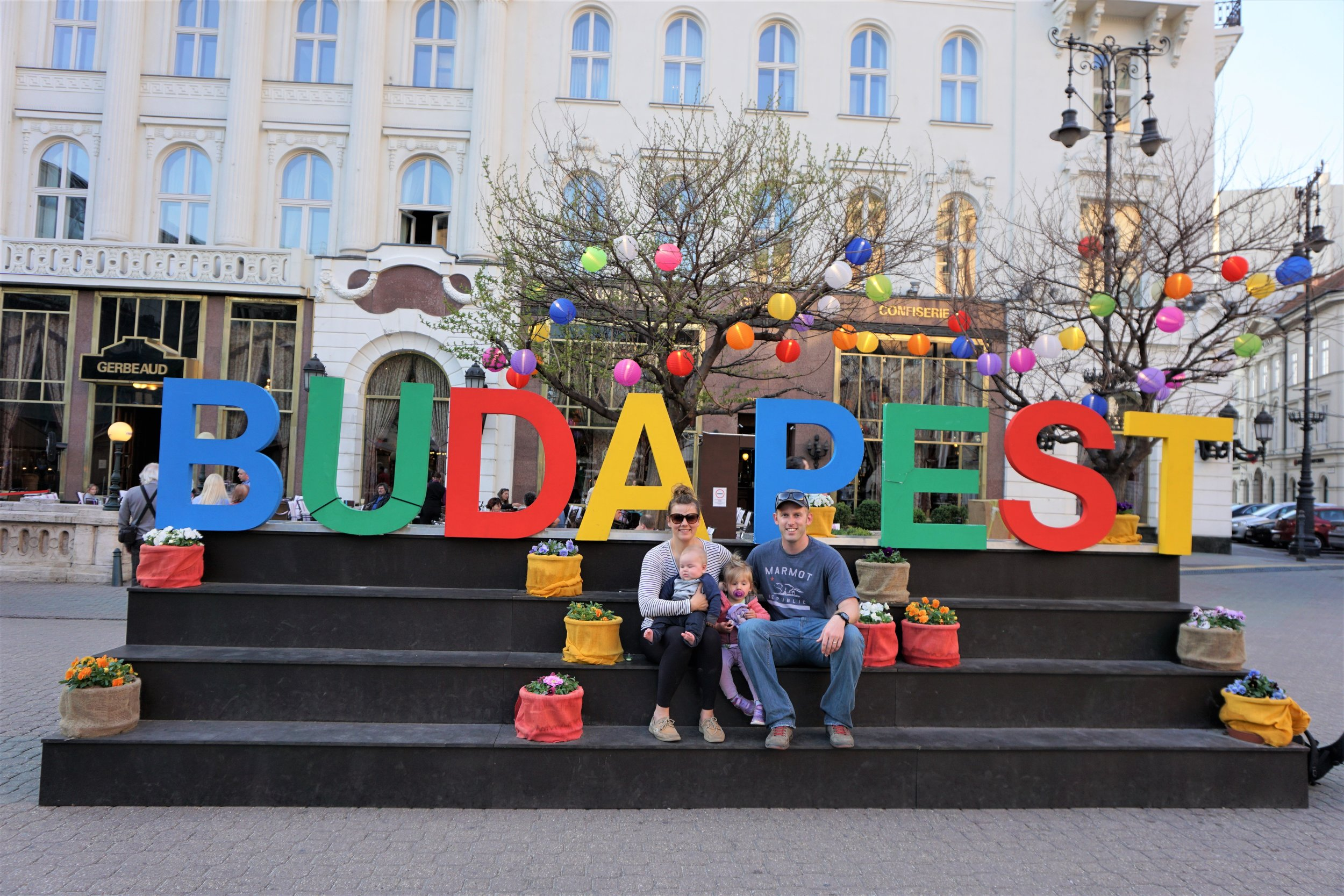 The four of us at the Easter Market in Budapest