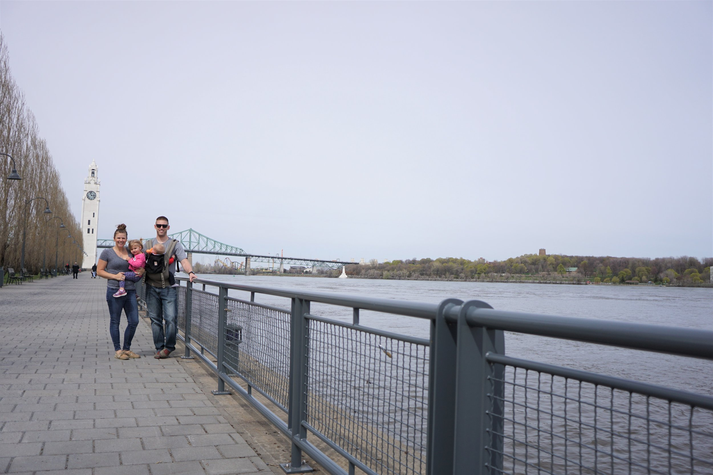The 4 of us on the walking trail in old port