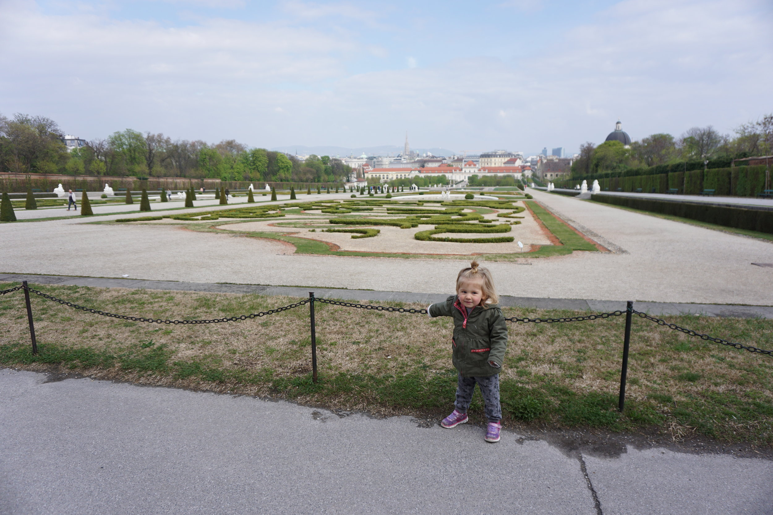 Charletta in the gardens of belvedere palace