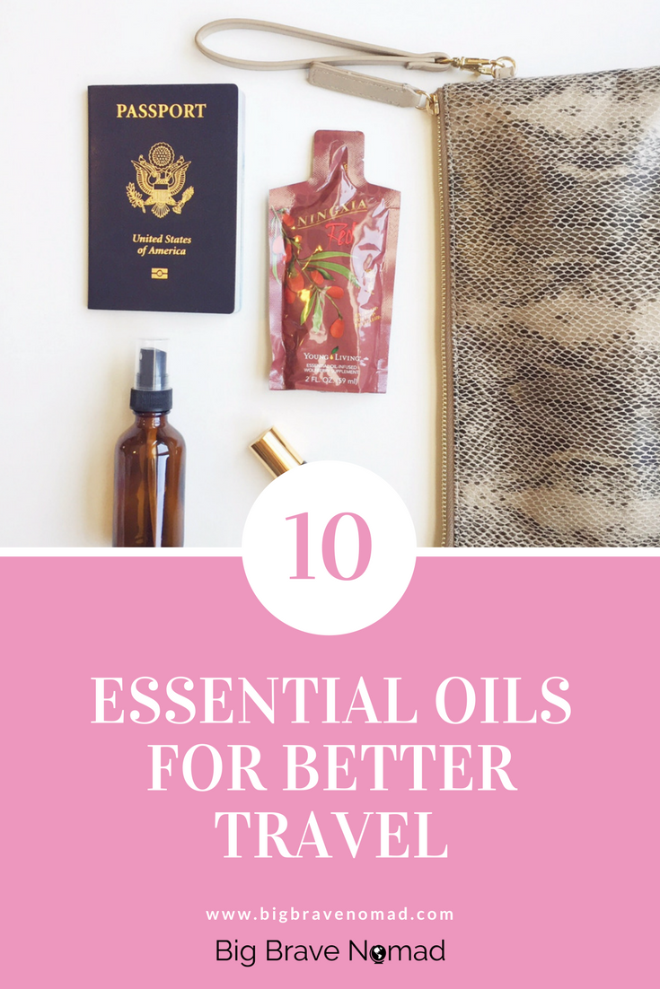 Pinterest Graphic for Traveling with Essential Oils