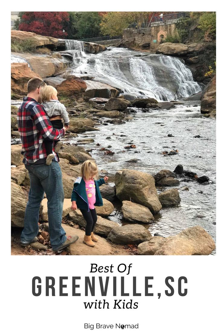 Greenville South Carolina with Kids (Pinterest Image)