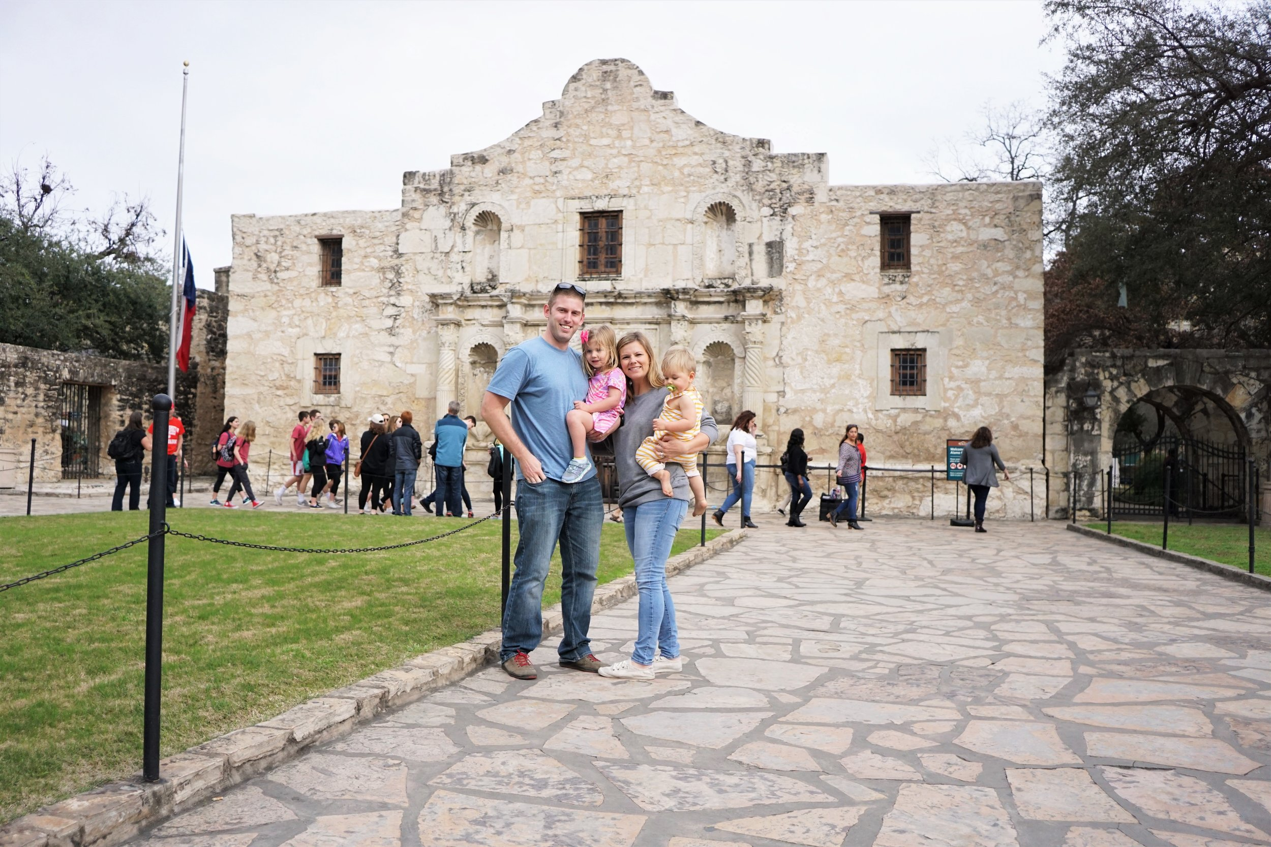 All of us in front of The Alamo