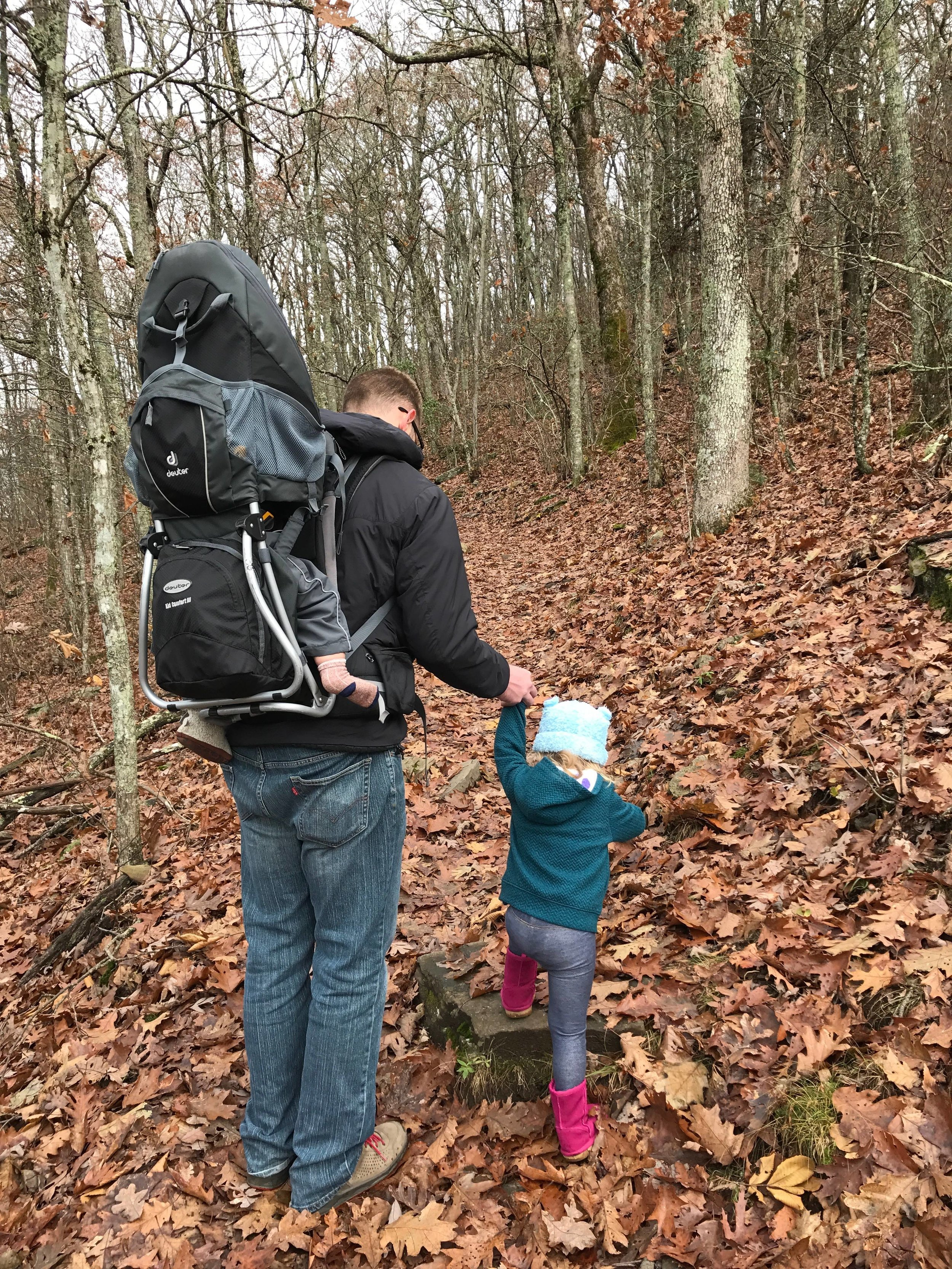 Daddy & The Kids hiking Bearwallow