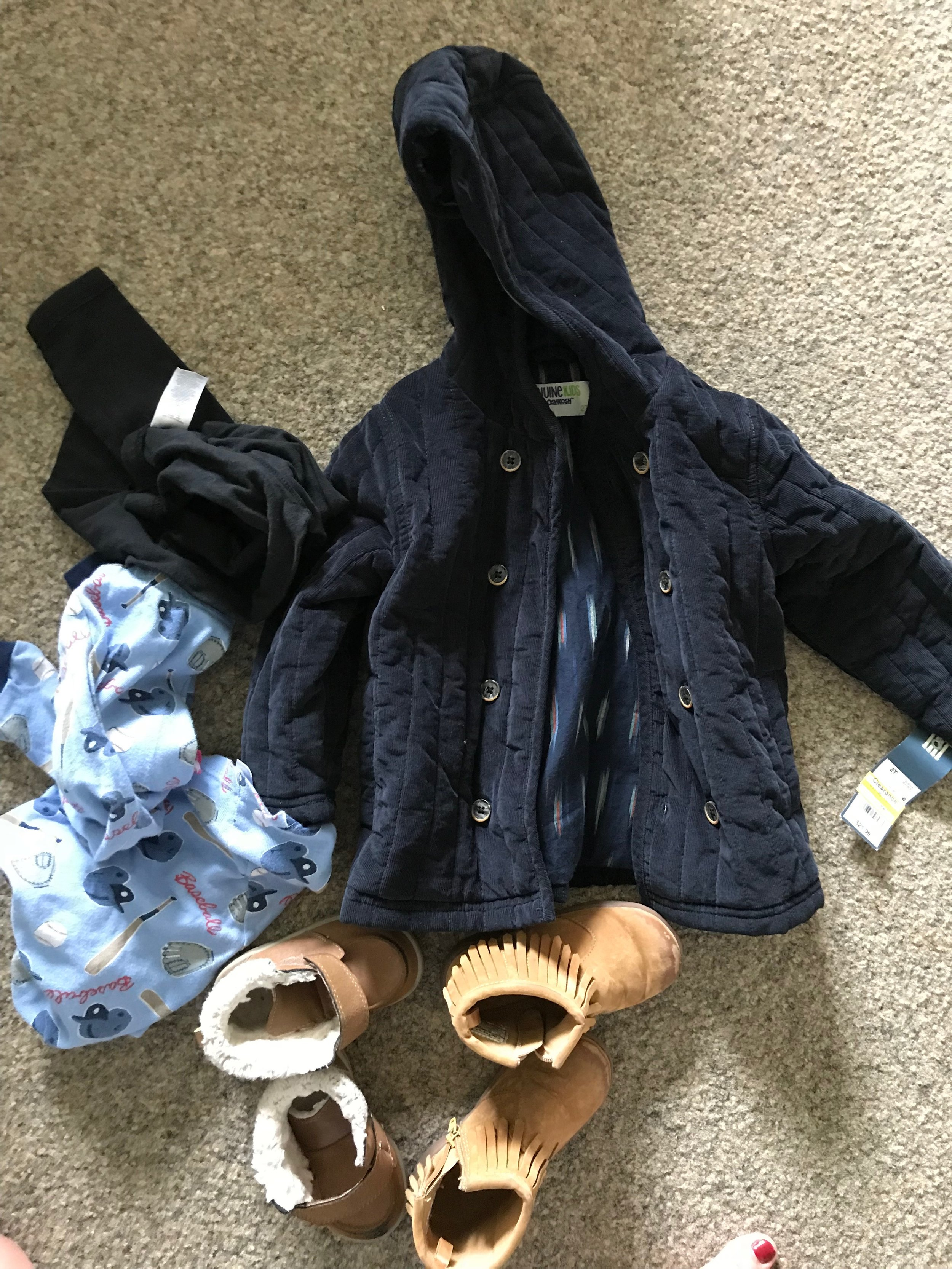 What we donated + a fleece Body suit