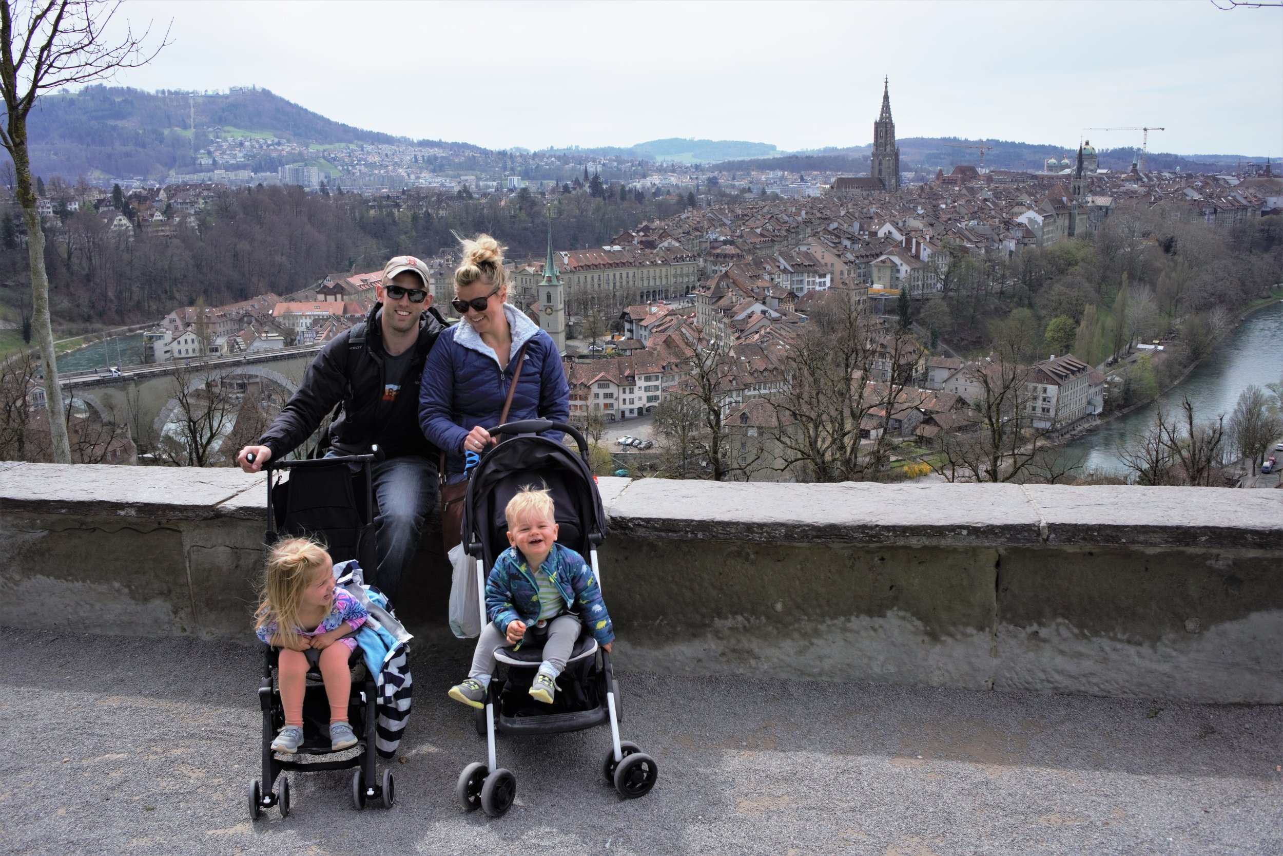 All four nomads at the rose garden overlook in bern