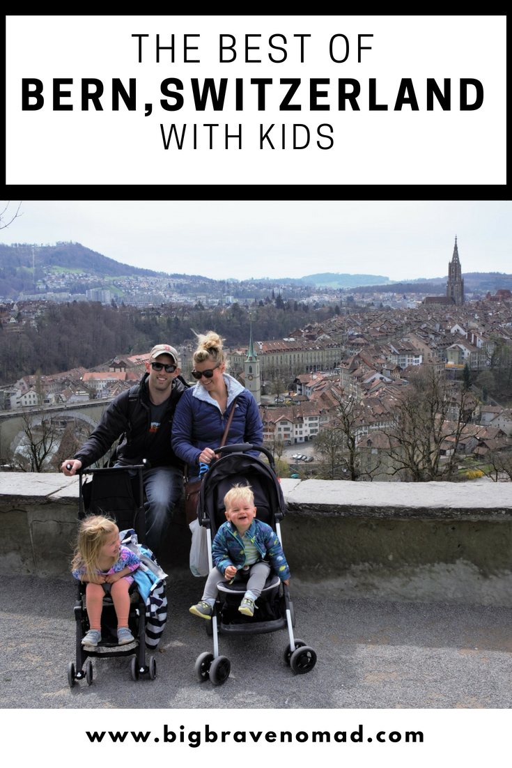 Pinterest Image of The NOmaDs At an Overlook in Bern