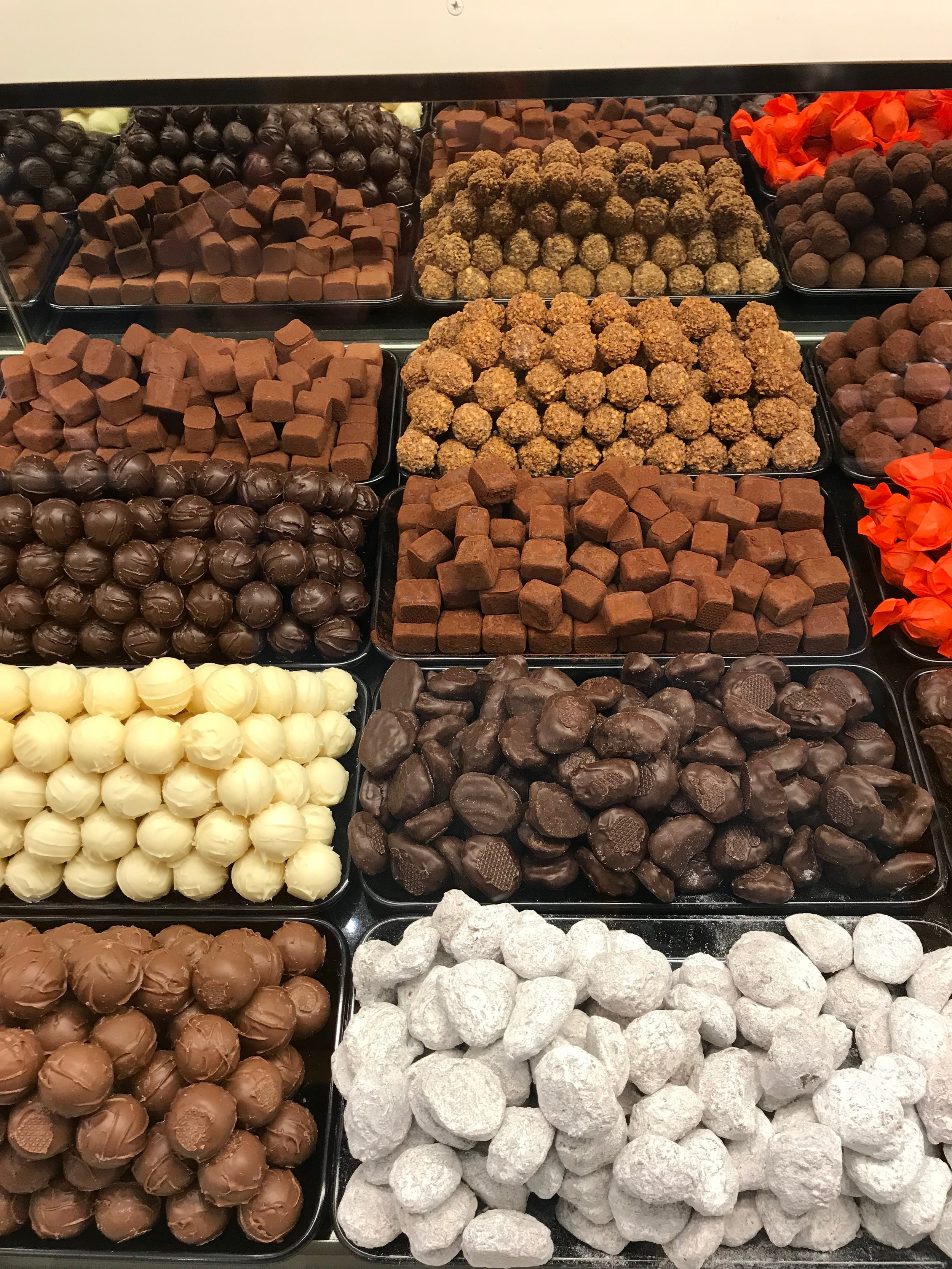 This chocolate makes my mouth water. Every item at Confiserie Tschirren was delicous