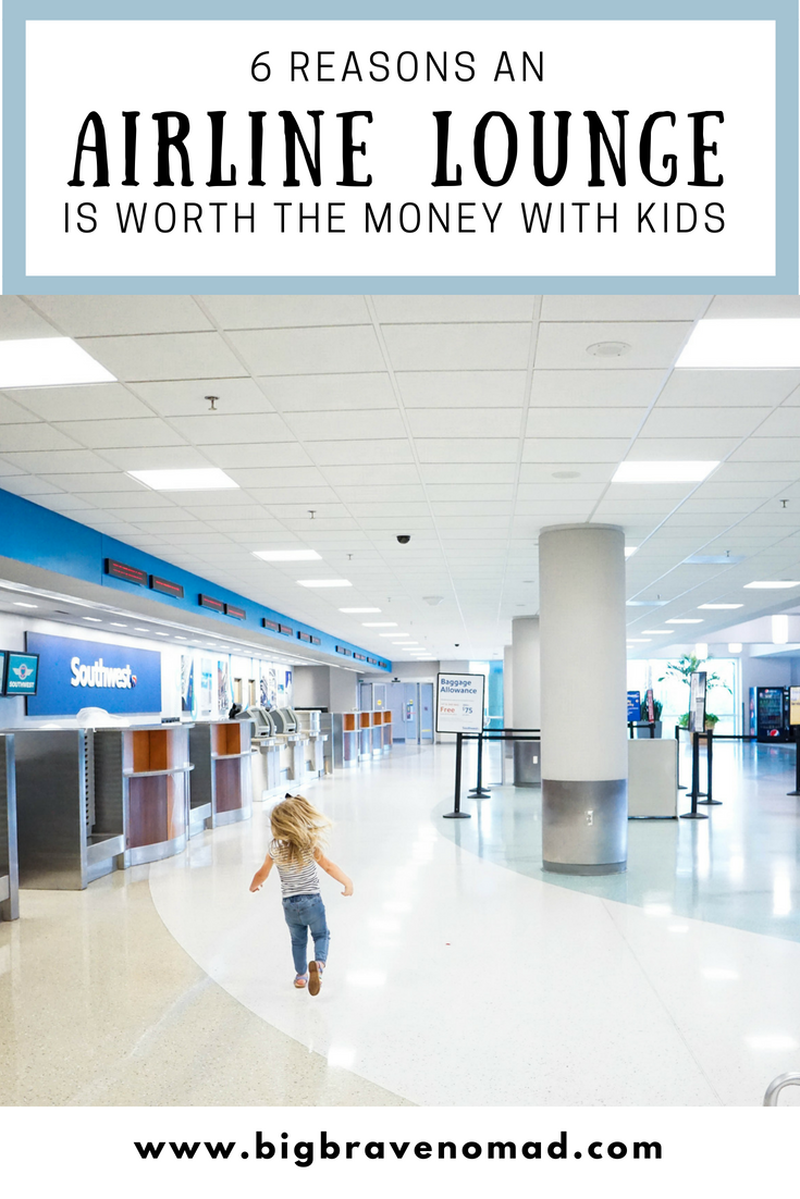 5 Reasons an AIrline Lounge is Worth the Money with Kids #bigbravenomad #familytravel #flyingwithkids