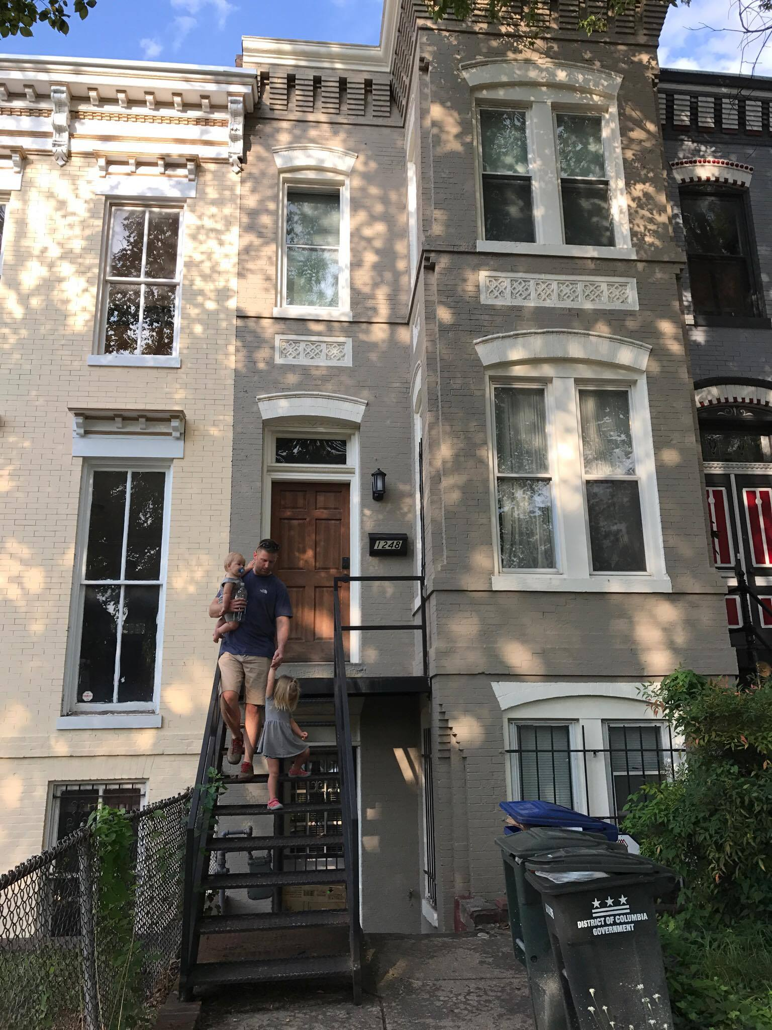 This was our super cool washington DC Airbnb -- an authentic row house - came with a free parking spot too! (Click image to see listing)