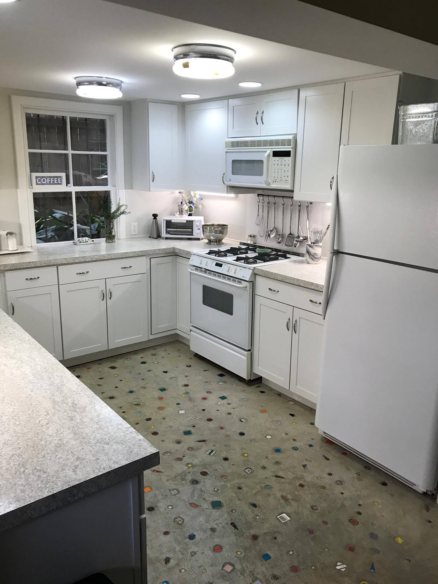 Hows this for size? This 2 bedroom New orleans apartment came with a stocked kitchen & they included chilren's utensils & toys for our kids!