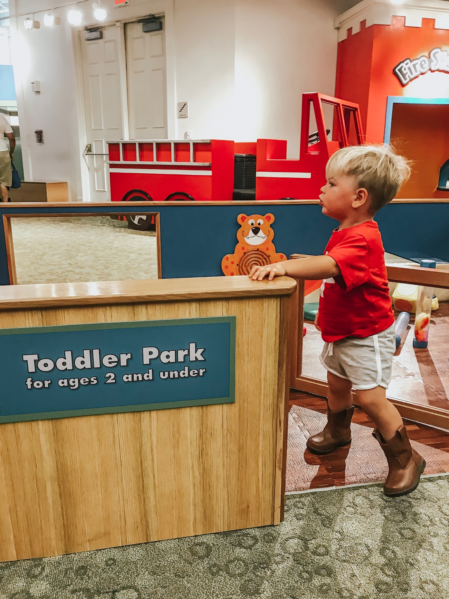 Not only was there a room for younger kids, at the mayborn , they even have a toddler park