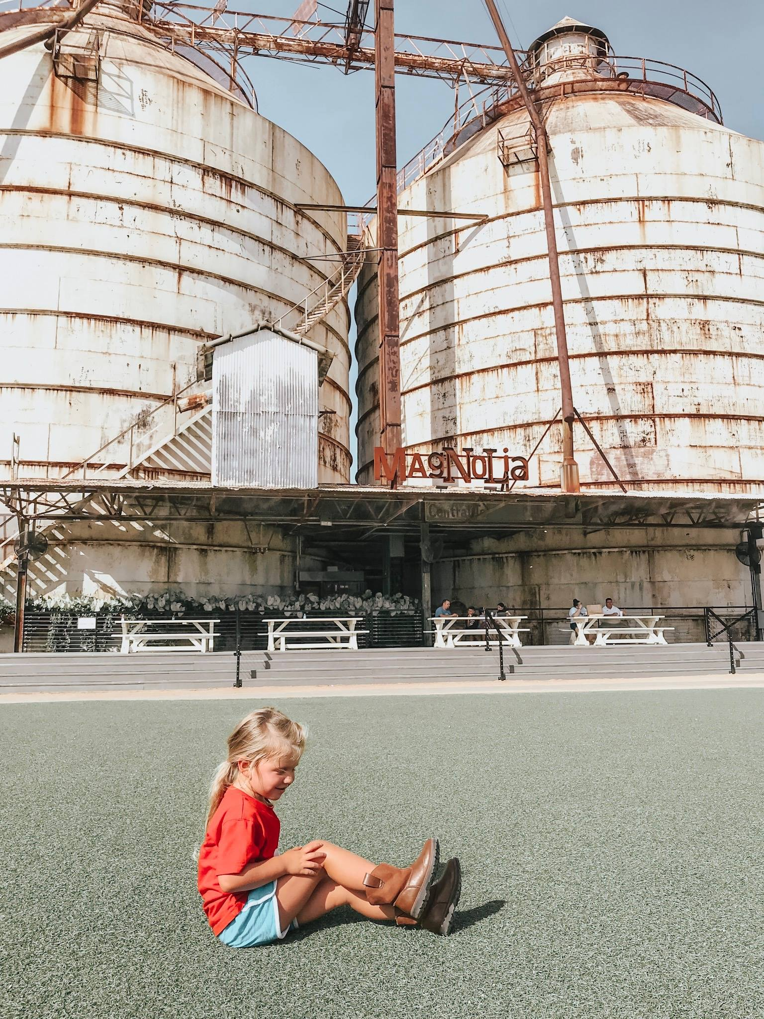 charletta in front of the famous silos -- she's already an instagram star!