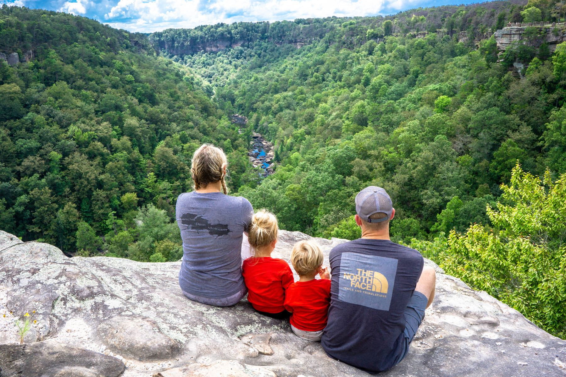 The four nomads enjoying the views at Little River Canyon in Fort Payne, Alabama