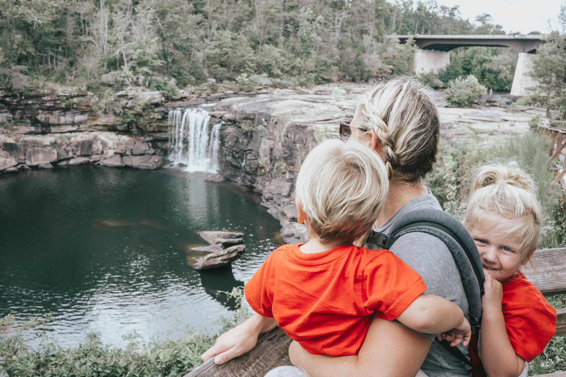 Enjoying the views at Little River Canyon Falls in Fort Payne, AL
